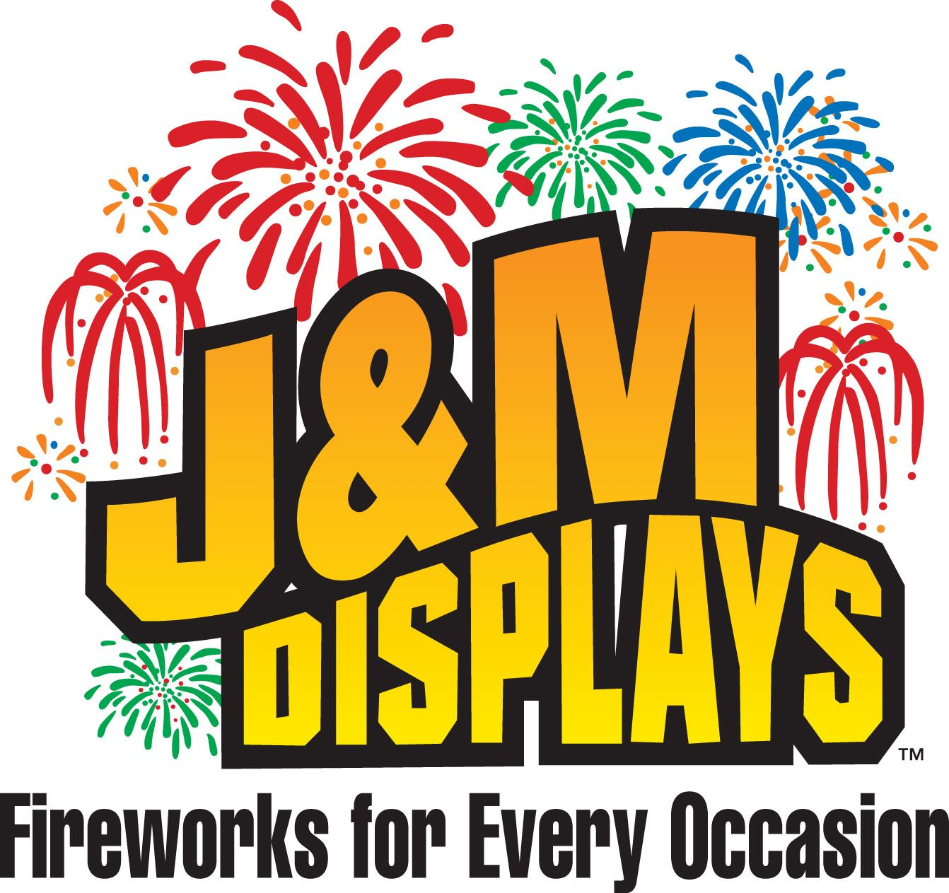 J and M Displays Fireworks for Every Occasion advertising sign
