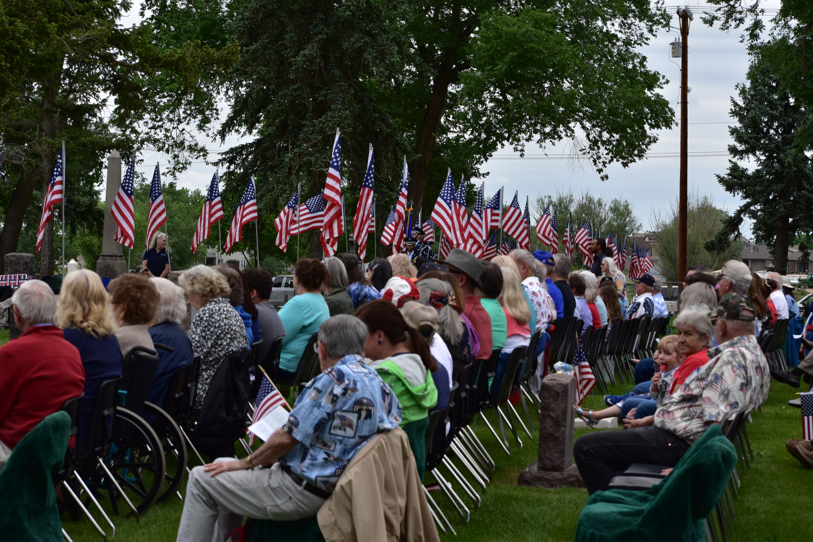 Audience listening to Memorial Day speech