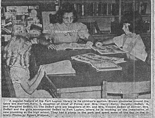 1947 newspaper photo women reading