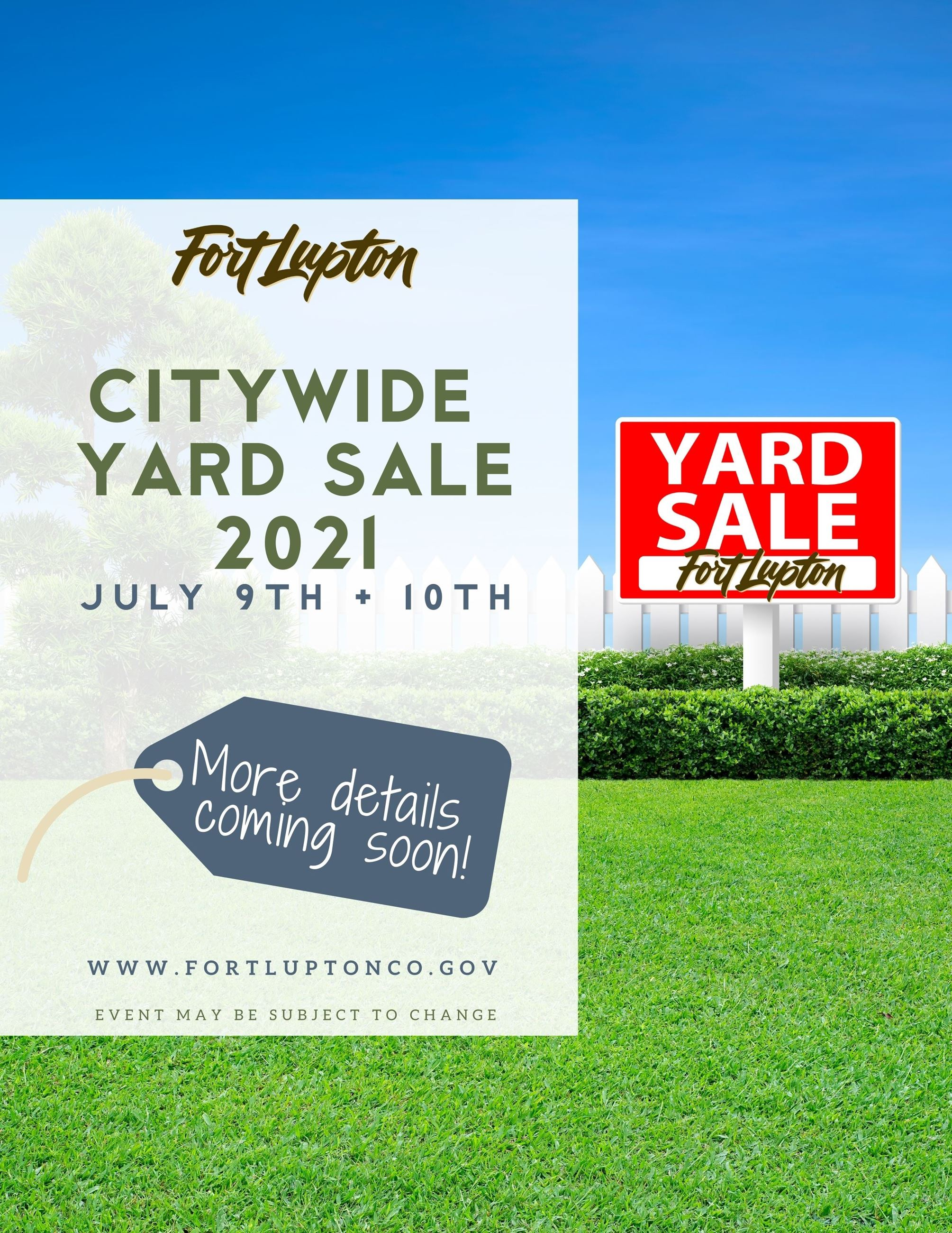 Citywide Yard Sale 2021 Save the Date